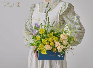 【零基础花艺学习】盆组式插花,野生花园感轻松get